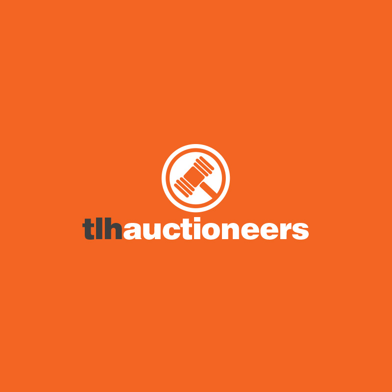 logo for a fiver tlh auctioneers andi wilkinson designer